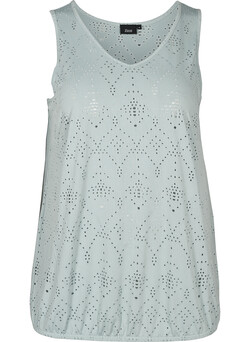 Top med broderi anglaise