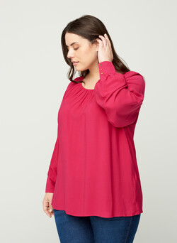 Long-sleeved viscose blouse