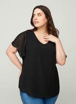 XJAGGER, S/S, BLOUSE