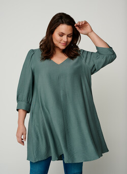 Tunic with puff sleeves