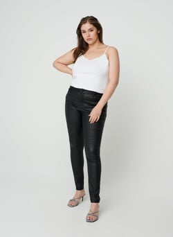 Coated Amy jeans