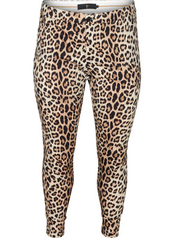Leggings med leopardmønster