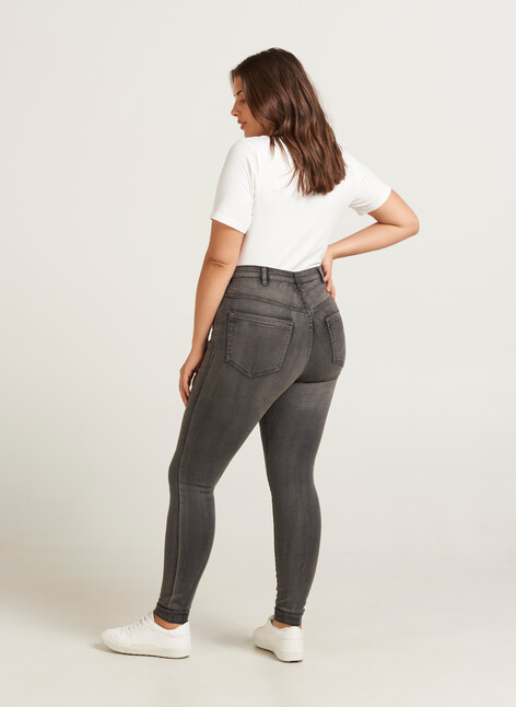 Super Slim Amy Jeans mit hoher Taille