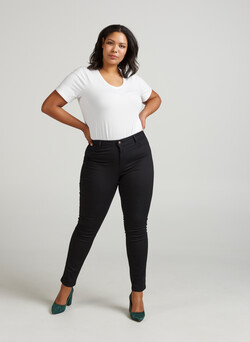 Extra Slim Nille Jeans mit hoher Taille
