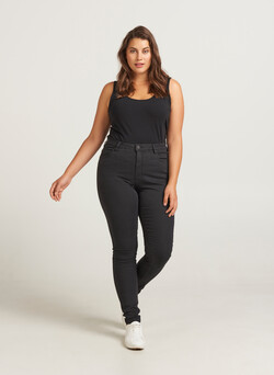 Hochtaillierte Super Slim Amy Jeans