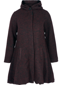 Long manteau en laine