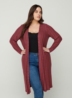 Long viscose mix cardigan
