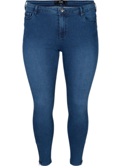 Cropped Amy jeans med glidelås