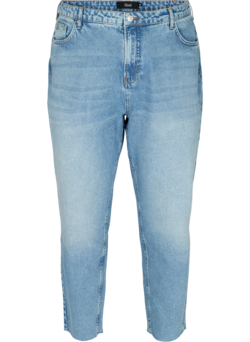 Cropped mom fit jeans