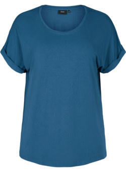 T-shirt in viscosemix met ronde hals