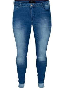 Højtaljet super slim Amy jeans