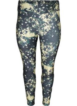 Cropped sportlegging met print