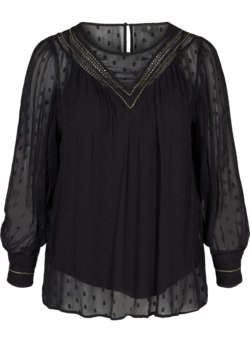 Long-sleeved blouse with decorative details