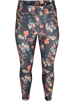Cropped sportlegging met bloemenprint