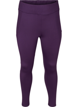 Cropped sports tights with mesh