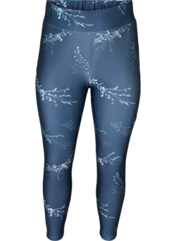 Cropped Trainingsleggings mit Print