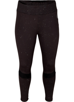 Cropped sportlegging met print en mesh