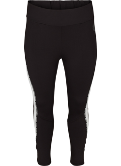Cropped Trainingstights mit Printdetails an den Seiten