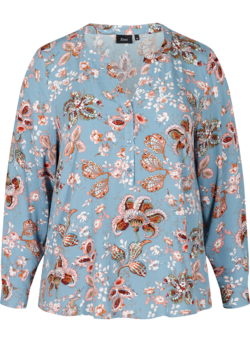 Floral blouse in viscose
