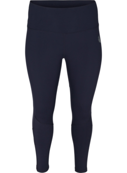 Cropped Trainingsleggings mit Mesh