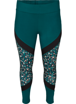 Cropped Trainingsleggings mit Printdetails