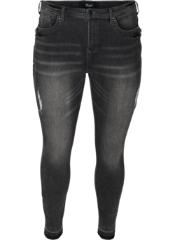 Super Slim Amy Jeans mit Schlitz