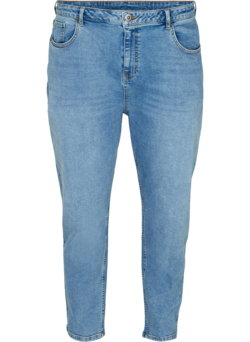 Cropped mom fit jeans met hoge taille