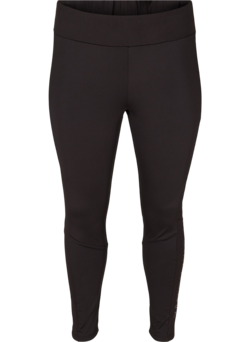 Cropped sportlegging met tekstprint