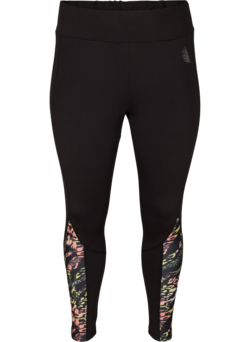 Cropped sportlegging met print details