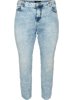 Mom fit jeans i bomull