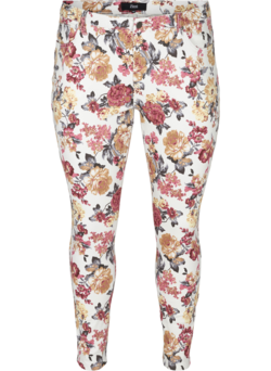 Super Slim Amy Jeans mit Blumenprint