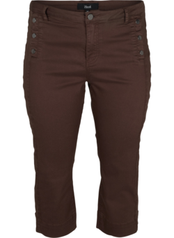 Slim Fit 3/4-Hose mit Schlitz