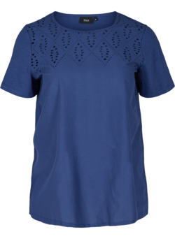 T-shirt avec broderie anglaise